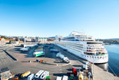 Cruise ship in Oslo port — Stockfoto