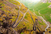Trollstigen road in Norway — Stock Photo
