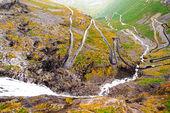 Trollstigen road in Norway — Stock Photo