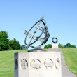 Sundial at Frogner Park Oslo — Stockfoto