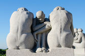 Statues in Vigeland park — Stock Photo