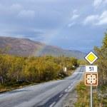 Rainbow on scenic road 51 — Stock Photo