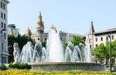 Fountain on the Plaza Catalunya — Stock Photo