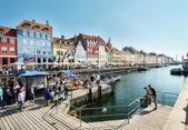 Nyhavn i köpenhamn — Stockfoto