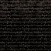 Black bricks wall — Foto Stock