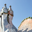 Chimneys like masked soldiers on the roof of Casa Mila Barcelona — Stock Photo #43504395