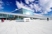 Oslo Opera House on sky background — Stock Photo