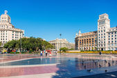 Placa de Catalynia Square of Catalonia — Stock Photo