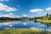Lake at Dikemark, Norway — Stock Photo