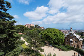 Park Guell with tourists — Stock Photo