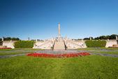 Obelisco do parque vigeland — Foto Stock