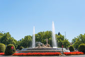 Neptun fountain in Madrid — Stock Photo