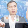 Business Man with Cloud Computing — Stockfoto