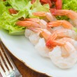 Shrimp Salad For Healthy Eating — Stock Photo