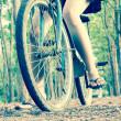 Close Up Bicycles — Stock Photo