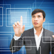 Man With Touchscreen — Stock Photo