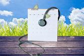 A stethoscope on the calendar — Stock Photo