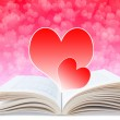 Love Diary, Background For Valentine's Day — Stock Photo