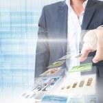 Businessman Touching Screen — Stock Photo #31078657