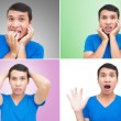 man gezicht expressies — Stockfoto