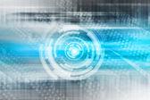 蓝色抽象技术背景 — 图库照片