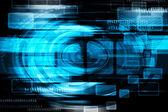 Sfondo astratto blu di tecnologia — Foto Stock