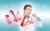 Fighting Hiv Concept — Stockfoto