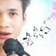 Asian Pop Singer — Stock Photo