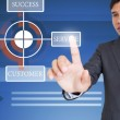 Man Pointing On Organization Chart — Stock Photo