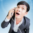 Shocking Businessman On The Phone — Stock Photo