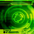 Green Futuristic Background — Stock Photo