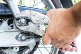 Reparação de motocicletas — Foto Stock