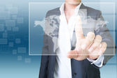Business Man With Touchscreen — Stock Photo