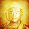 Face of golden budda — Stock Photo