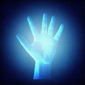 Futuristic Hand Concept — Stock Photo