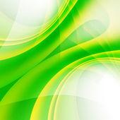 緑の湾曲した背景 — ストック写真