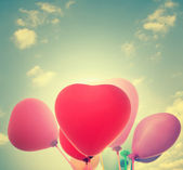 Heart Balloons,Valentines Day Background — Stock Photo