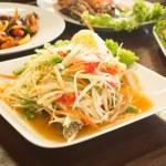 Somtum,Papaya Salad — Stock Photo