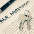 Sale Agreement,For Real Estate Concept Background — Stock Photo #50248623