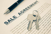 Sale Agreement,For Real Estate Concept Background — 图库照片