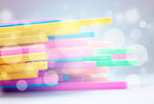 Colorful Of straw Composition Series — Stock Photo