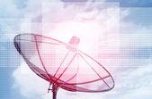 Futuristic Satellite Dish background — Stock Photo