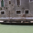 Gondola near old building in Venice, Italy — Stock Photo