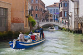 Canal with boat in Venice. — Stock Photo