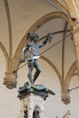 Perseus holding head of Medusa statue — Stock Photo