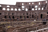 Amphitheatre of the Coliseum in Rome, Italy — Stock Photo