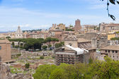 Rome cityscape with Roman Forum view. — Foto de Stock