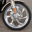 Royalty-Free Stock Photo: Chrome Motorcycle Wheel