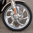 Chrome Motorcycle Wheel — Stock Photo