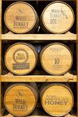 野生火鸡波旁威士忌酒厂的产品 — 图库照片